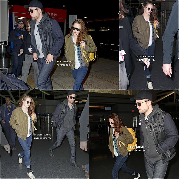 26/11/2012-  Kristen et Rob étaient à l'aéroport de NY direction LA, pour rentrer chez eux.