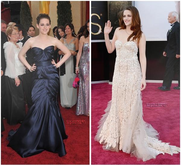 Kristen nous a ébloui 2 fois aux Oscars mais plutôt 2010 ou 2013 ?