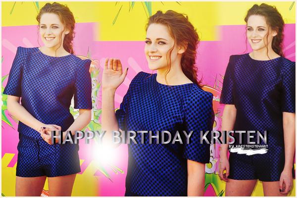 Aujourd'hui, Kristen fête ses 23 ans ! On lui dit quoi ?