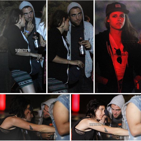 12/04/13- Robsten étaient présents au festival de Coachella avec leurs amis et Katy Perry.  La tenue de Kris est un peu bizarre. Tee-shirt blanc large par dessus une jupe? Mais Robsten sont trop mignons !