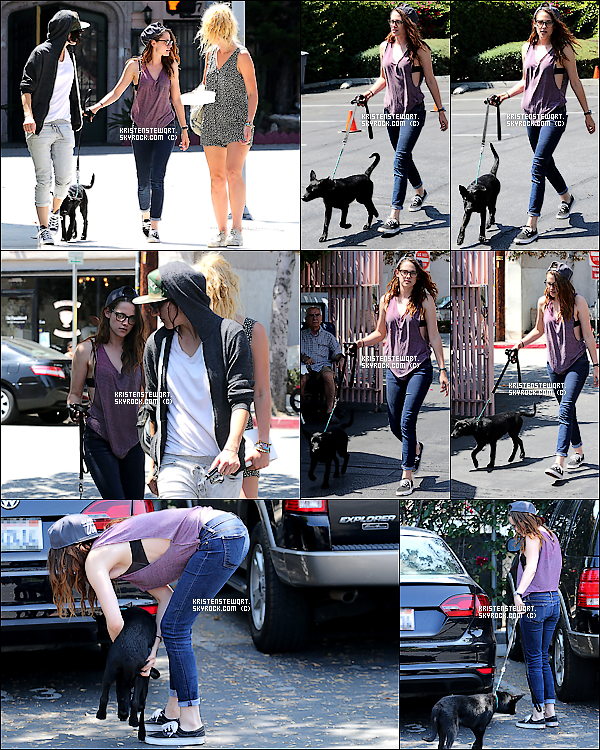 """▬ 26/07/2013: Kristen encore sur le tournage de son nouveau film, """"Camp X-Ray""""."""