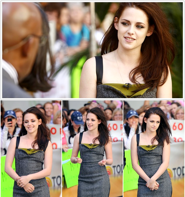 ".FLASHBACK. | .31/05/2014. .  › Kristen était  à ""The Today Show"" à New York, pour la promo de Snow White and The Huntsman ! Cet event est absolument parfait ! Je trouve Kristen resplendissante !"