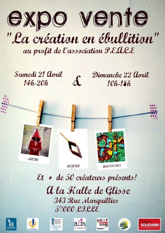 "ninabijouxdelille PARTICIPE A ""CREATIONS EN EBULLITION"""