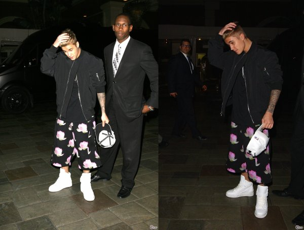 12 Mai 2014 - Beverly Hills : Justin arrive à l'hôtel Four Seasons
