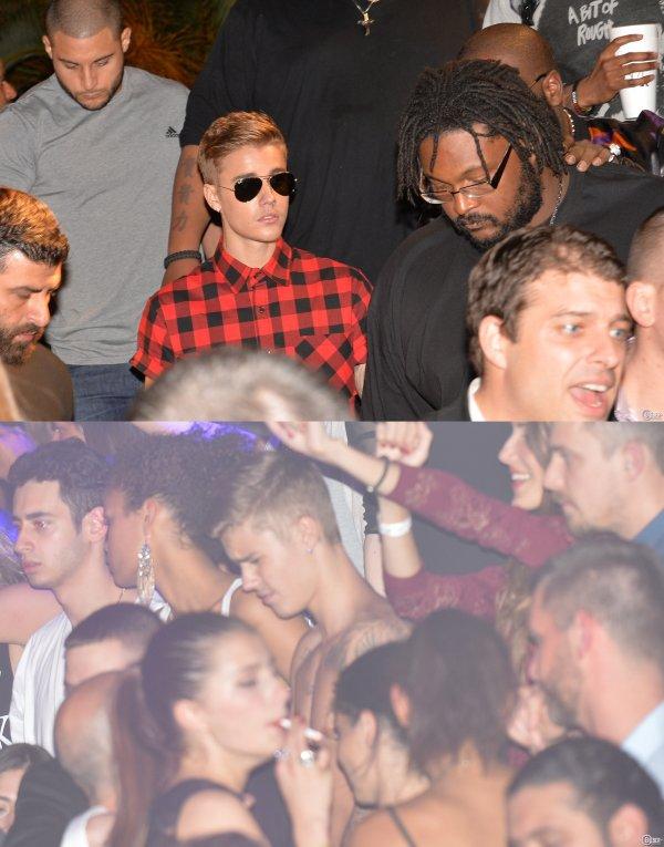 19 Avril 2014 - Cannes : Justin dans la boîte de nuit Gotha, avec Rick Ross