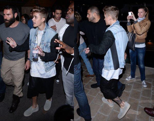 21 Mai 2014 - Cannes : Justin arrive à la soirée Roberto Cavalli