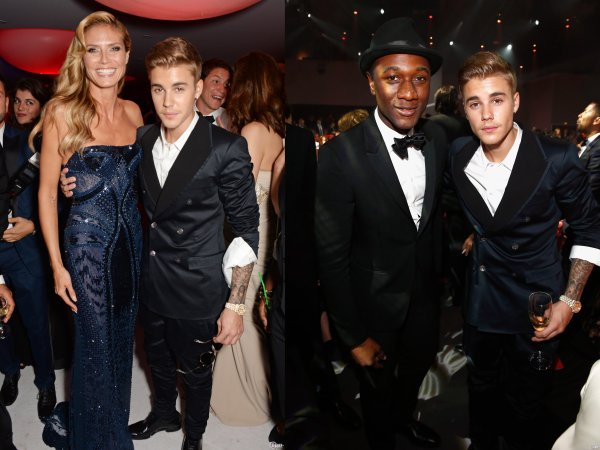 Nuit du 22 au 23 Mai 2014 - Cap d'Antibes (France) : Justin au gala Cinema Against AIDS
