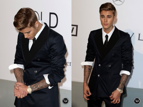 Nuit du 22 au 23 Mai 2014 - Cap d'Antibes (France) : Justin prend la pose au gala Cinema Agains AIDS