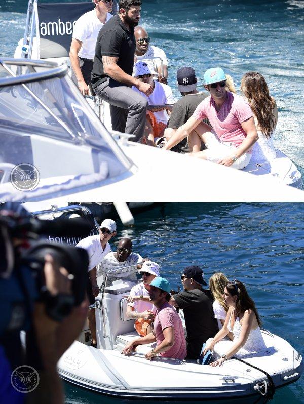 24 Mai 2014 - Monte Carlo : Justin sur un yacht pendant le Grand Prix de Formule 1