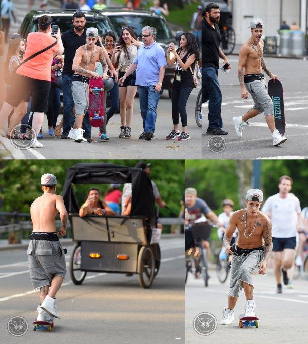 26 Mai 2014 - New York : Justin dans un restaurant et dans les rues de New York + à Central Park avec Usher