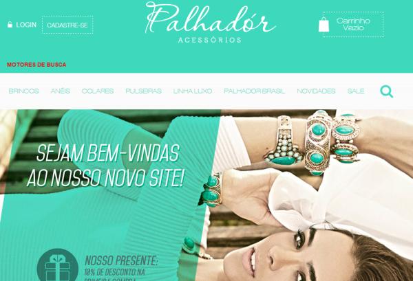 Loja de semi jóias Brincos Anéis Pulseiras Colares || PALHADÓR-online