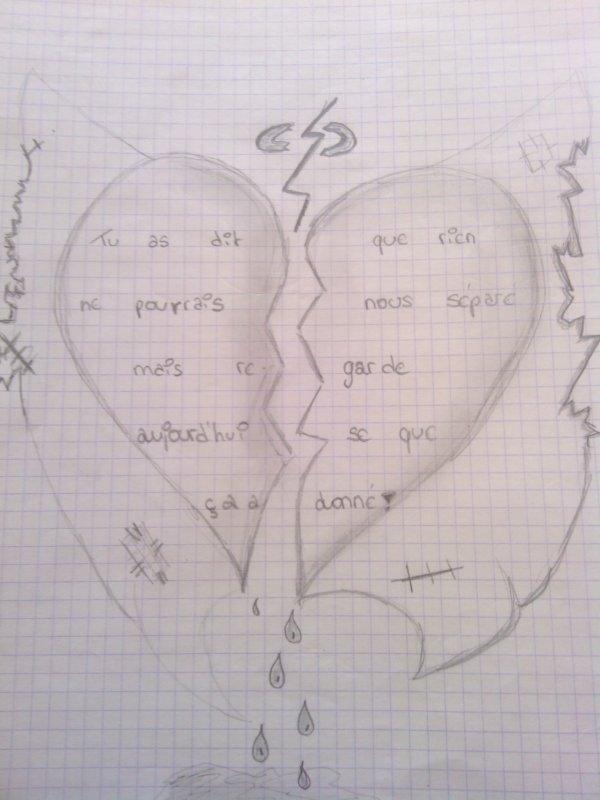 Dessin Coeur Brisé Facile