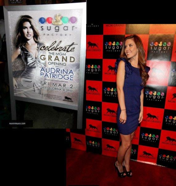 Audrina était invitée à l'ouverture de Sugar Factory à Las Vegas, le 2 mars