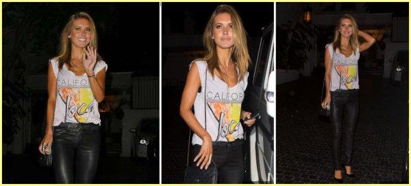 Audrina quitte un anniversaire privé au Chateau Marmont, le 25 juillet à West Hollywood