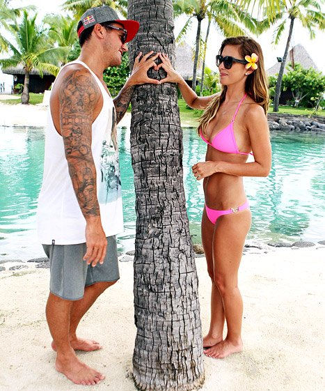 Audrina et Corey en vacances à Tahiti