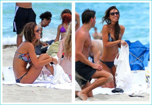 Audrina prend des couleurs sur une plage de Miami