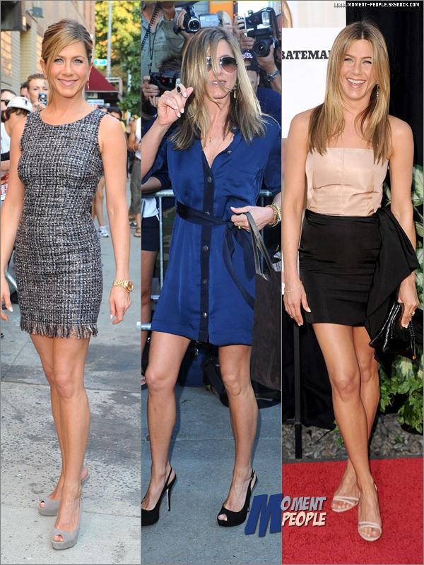 . Parmis ces 3 tenues de Jennifer Anniston ,laquelle préfères-tu ? =) .