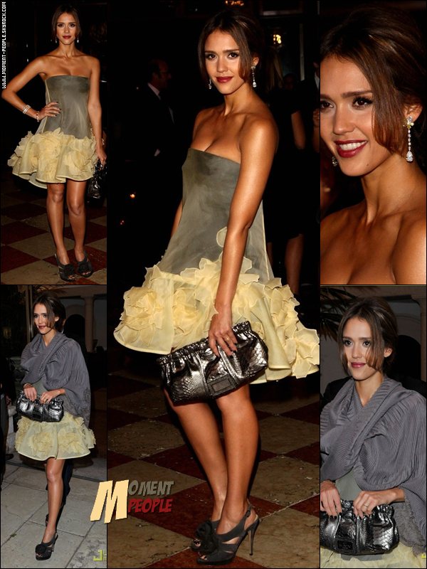 .  31Août~Jessica Alba participe au dîner Uomo Vogue honorer Quentin Tarantino lors de la 67e Mostra de Venise. .