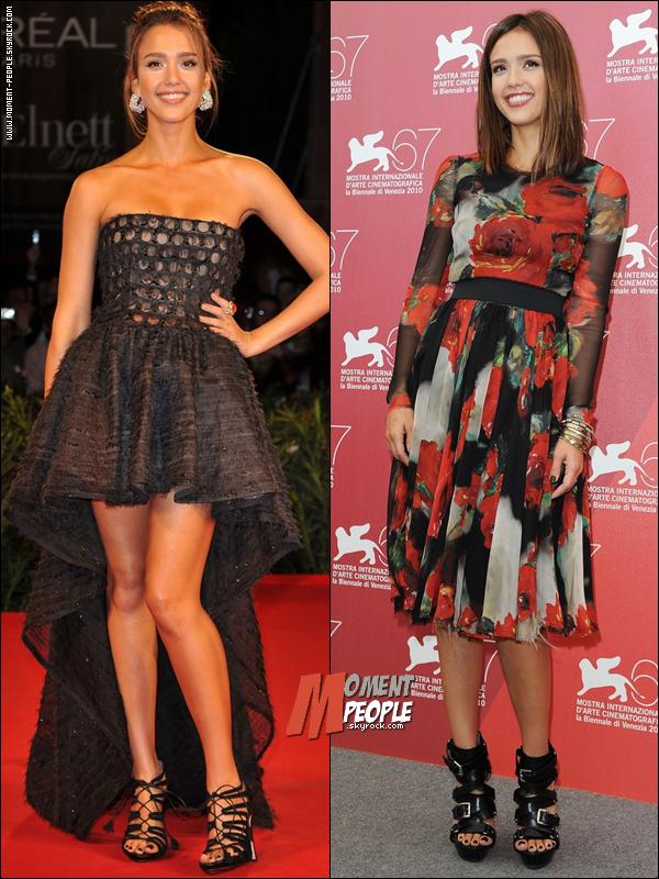 .  'Machete' Premiere in Venise.D'aprés vous quelle tenue de Jessica Albe mérite le Top ?  .