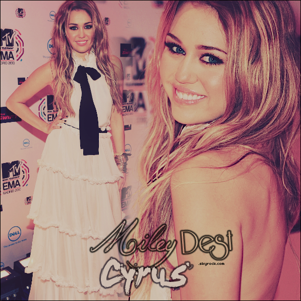 .  Bienvenue sur MileyDest-Cyrus.skyrock.Com, ta source sur la talentueuse Miley Cyrus !  ❤ .