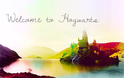 « - Hogwarts will always be there to welcome you home ... » J.K. Rowling.