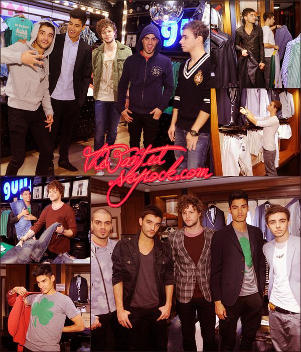23/04/12 : The Wanted étaient dans la boutique Tommy Hilfiger à New York.