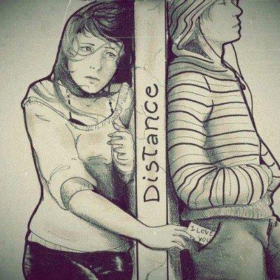 La distance entre toi et moi ..