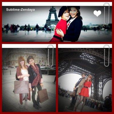 27 mars 2011 : Bella Thorne et Zendaya Coleman visite Paris !