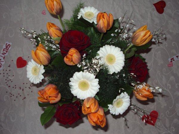bouquet de fleur offert par mon chéri pour la st valentin :)