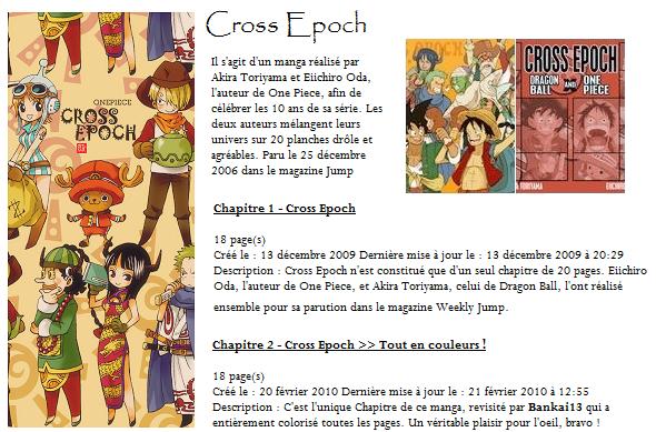 Cross Epoch (Dragon Ball & One Piece) Voici Le Site Ou Vous Pourais Voir Ces Planches En Ligne www.transgoku.fr. Dite Moi Si il Vous Ont Plus Bonne Visite sur le blog et Merci De Le Lire  =')