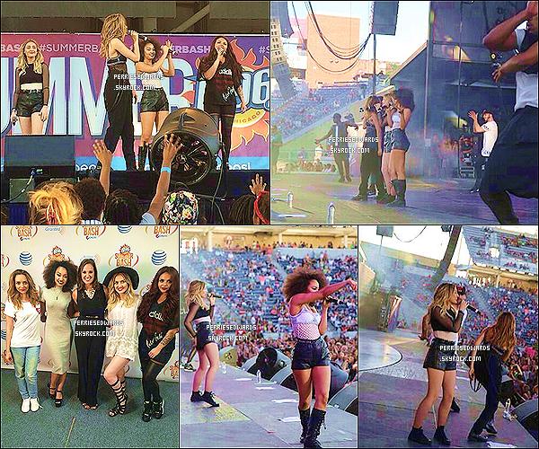 """. 13 / 06 / 14 : Les Little Mix ont donné concert au  """" WZPL Birthday Bash """" à Indianapolis. Le jour suivant, elles sont arrivés à Chicago où elles ont performés au Summer Bash.  ."""
