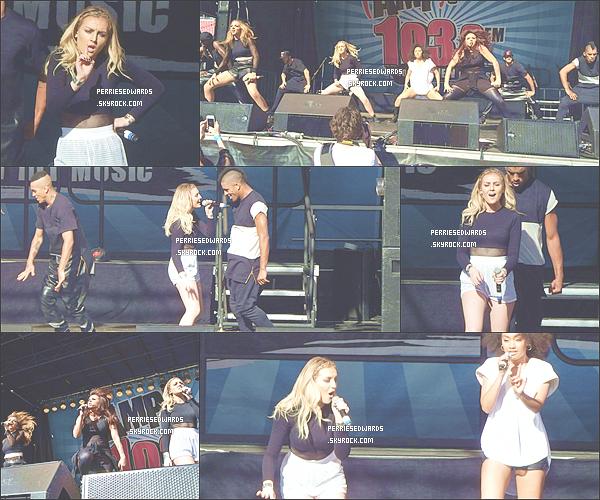 """. 15 / 06 / 14 : Perrie et les filles ont performé sous le soleil au """" AMP Birthday Bash """" à Boston. Elle à été vue dans la journée faire du shopping avec Jade dansVictorias Secret à Patriots Place. ."""