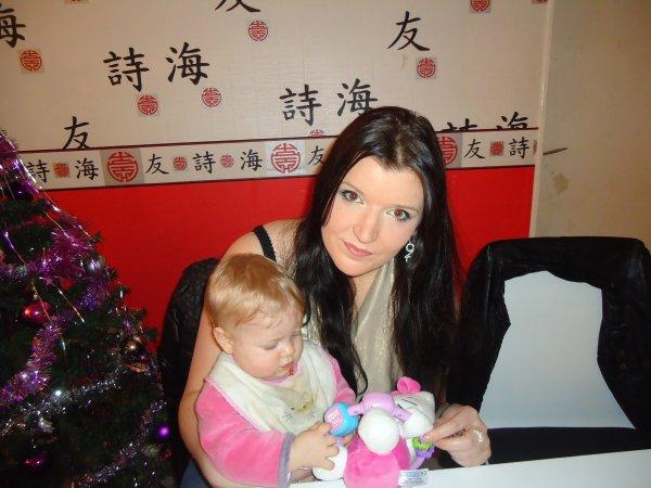 Louanne ( ma p'tite nièce de coeur ) et moi au nouvel an <3
