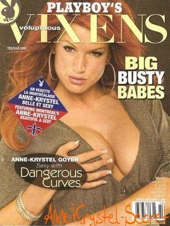 Anne Kyrystel a Posée pour Playboy