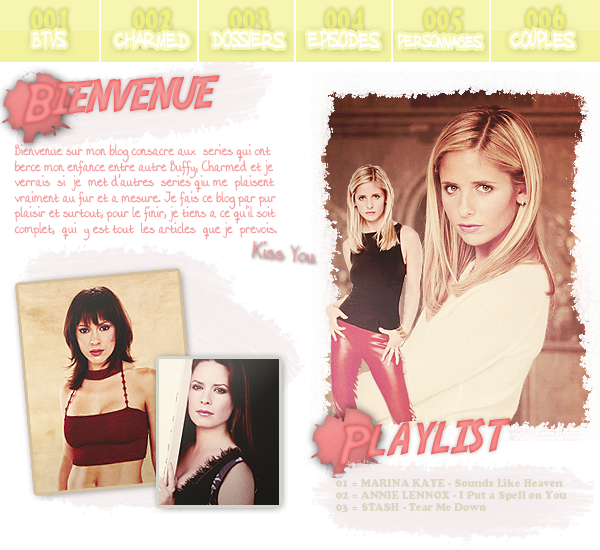 .  ♦  BUFFY CONTRE LES VAMPIRES & CHARMED  •  .