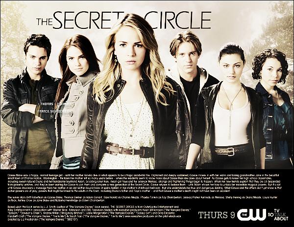 """_ __Stills____Des premières photos promo de """"The Secret Circle"""" viennent de sortir.'_'J'aime !  __Poster___Un poster de la série fait par la chaine CW est également apparu.'_-__Ton avis ?  __Vidéo_-__Une vidéo promo de 6 minutes pour l'épisode pilot est aussi sortie. _-'_J'ai hâte !_"""