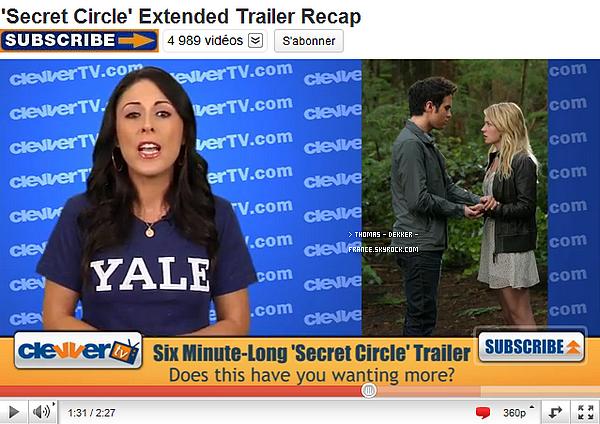 """_ __Twitter--_Thomas vient d'annoncer avoir terminé le tournage de """"Rose By Name"""".__-Hâte !  __Promos__La CW à publiée une nouvelle vidéo promo de """"The Secret Circle"""".'Rien de nouveau  __Vidéo_-__Le site Clevver.com a réalisé un reportage sur cette même série. _-'____Ton avis ?_"""