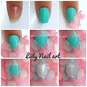 Faire un diamond en nail art