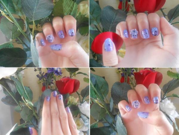 Nouveau nail art pastel galaxie