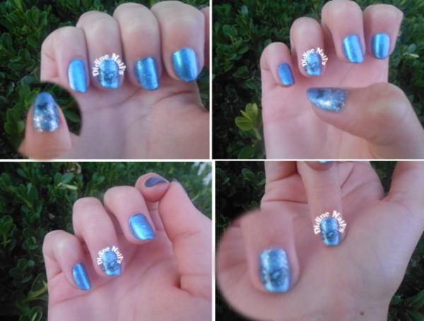 Nouveau nail art papillon