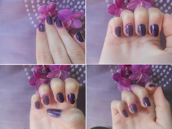 Swatch vernis kiko violet à paillettes holo' ! *-*