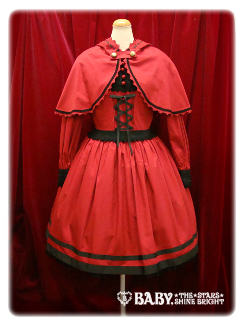 VENTE : Little red riding hood One-piece dress with cape