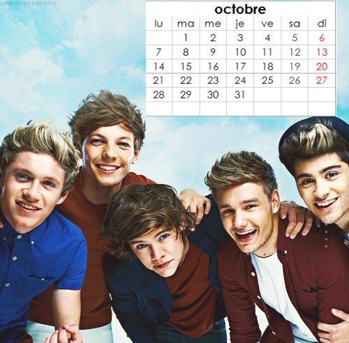 Calendrier One Direction personnalisé à imprimer (suite).