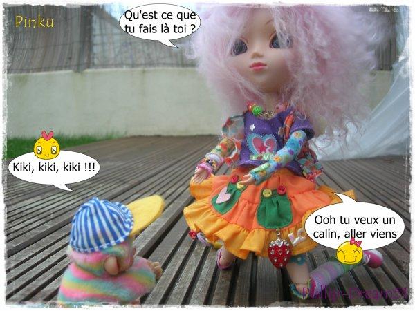Pinku et Haribo, une grande histoire d'amitié qui commence =)