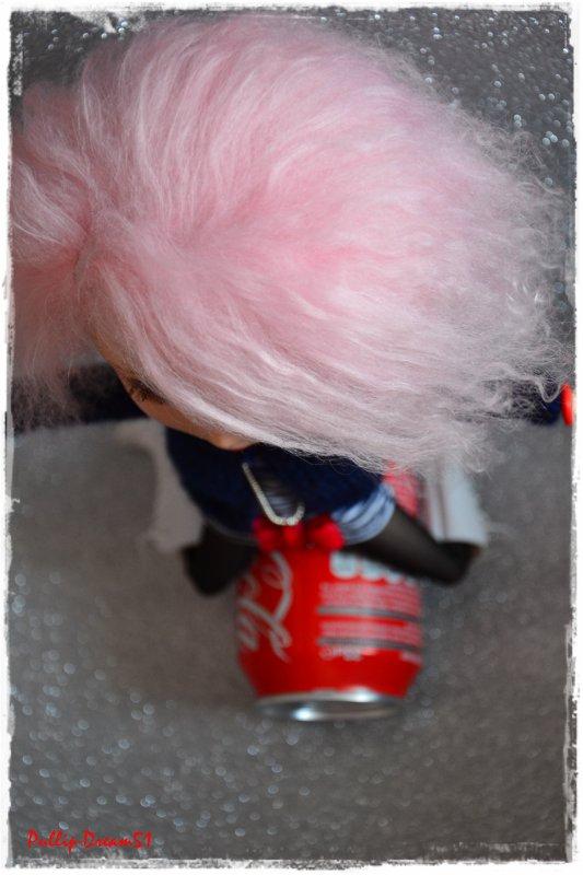 Pinku and mister coca-cola