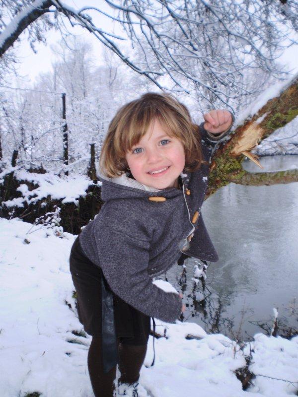 ma puce dans la neige