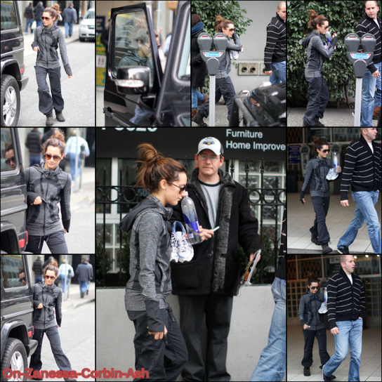 Ashley, December 05th: Leaving gym in Vancouver !