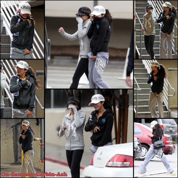Zac & Vanessa & Ashley, December 22th: Leaving 'Subway', Leaving the gym, Leaving Coffee Bean and Tea Leaf with her dad !