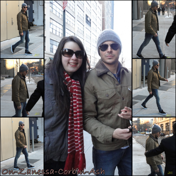 Zachary - February 22, 2011 Leaving his hotel in NYC