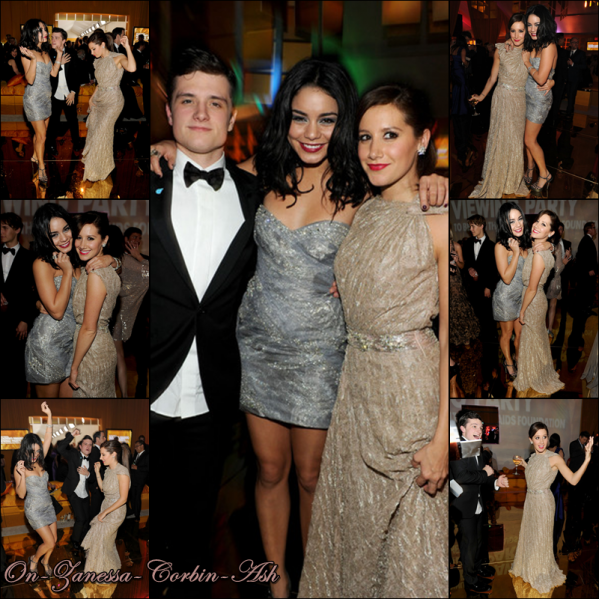 Vanessa & Ashley - February 27, 2011 Attending the 19th Annual Elton John AIDS Foundation Academy Awards Viewing Party !